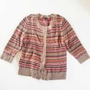 Talbots Button Down Sweater Cardigan size MP